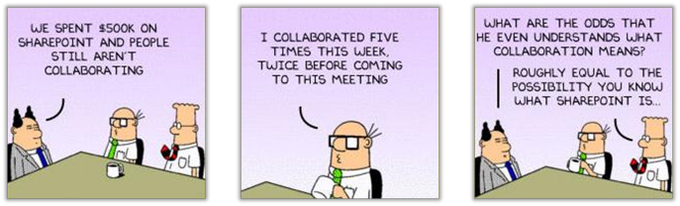 Dilbert cartoon Why is SharePoint not used
